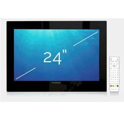 "ProofVision 24"" Premium Widescreen Waterproof Bathroom TV BLACK"