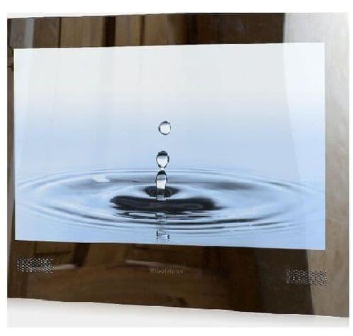 "ProofVision 24"" Premium Widescreen Waterproof Bathroom TV SILVER MIRROR"