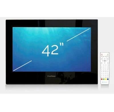 "ProofVision 42"" Premium Widescreen Waterproof Bathroom TV BLACK"