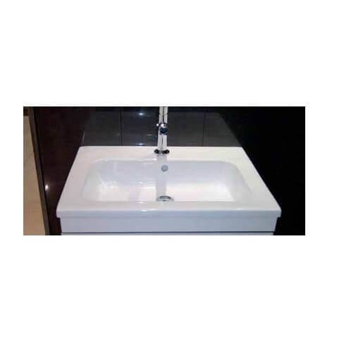 Rak Lola 612mm Semi Recessed Wash Basin with 1 Tap Hole 612 x 475 x 155mm