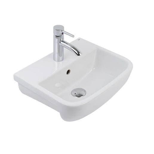 Rak Series 600 420mm 1 Tap Hole Semi-Recessed Basin 420 x 345 x 165mm