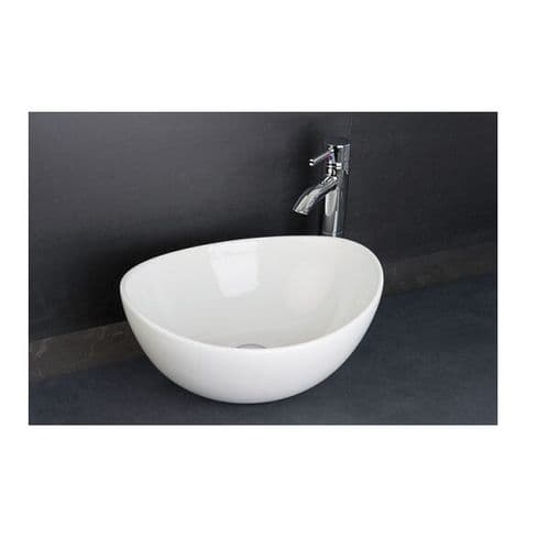 Rak Shell 390mm Counter Top Basin with 0 Tap Hole 390 x 325 x 175mm