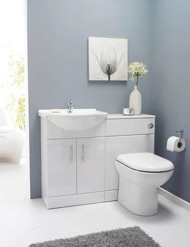 Saturn Furniture SAT001 Pack 1050mm Bathroom Vanity Basin WC Unit inc BTW Toilet