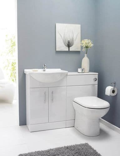 Saturn Furniture SAT001 Pack 1050mm Bathroom Vanity Basin WC Unit inc BTW Toilet