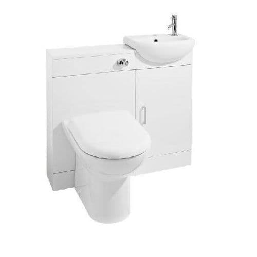 Sienna Furniture SIE001 Pack 900mm Bathroom Vanity Basin WC Unit inc BTW Toilet