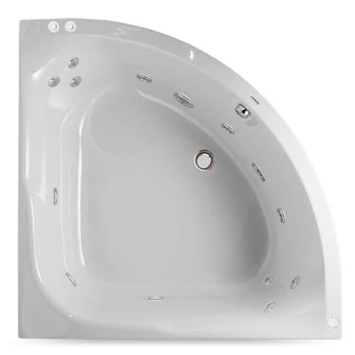 Sky 1200mm x 1200mm Corner Whirlpool Bath 12 Jet Bath