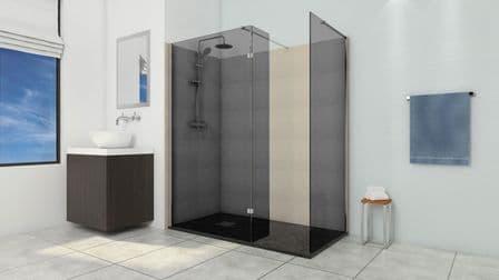 Smoked Glass Wet Room Shower Screens