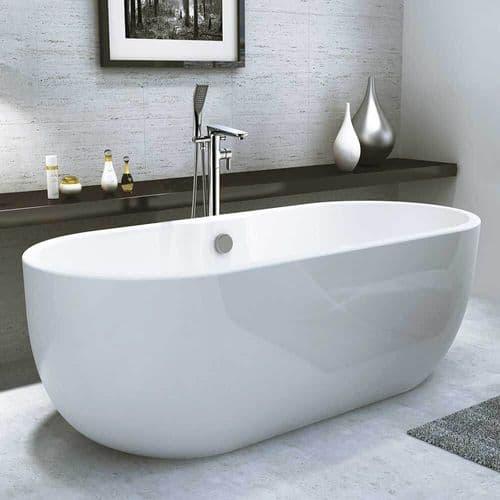 Synergy San Marlo Modern Small Freestanding Bath 1415mm x 750mm x 580mm