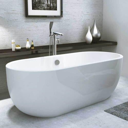 Synergy San Marlo Modern Small Freestanding Bath 1555 x 745 x 580mm