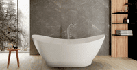 Taylor White 1675mm x 765mm Stand Alone Freestanding Bath