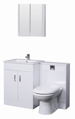 Turin Gloss White Cloakroom Suite