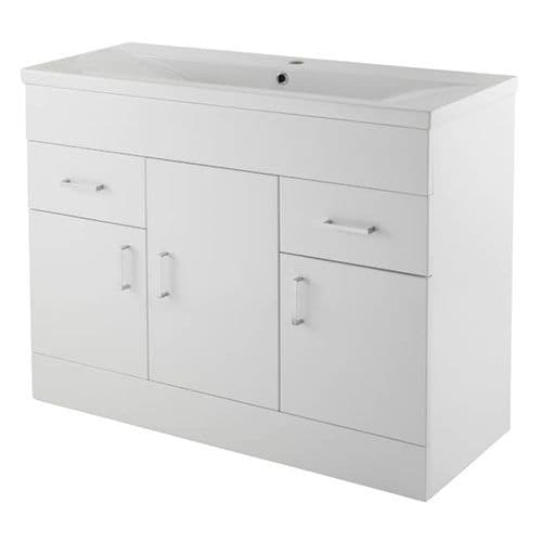 800mm Vanity Units: Turin Vanity Unit 800 mm High Gloss White With Basin Unit Minimalist  from Premier Bathrooms