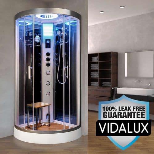 Vidalux Essence Steam Shower 800mm x 800mm Mirrored Quadrant Cubicle