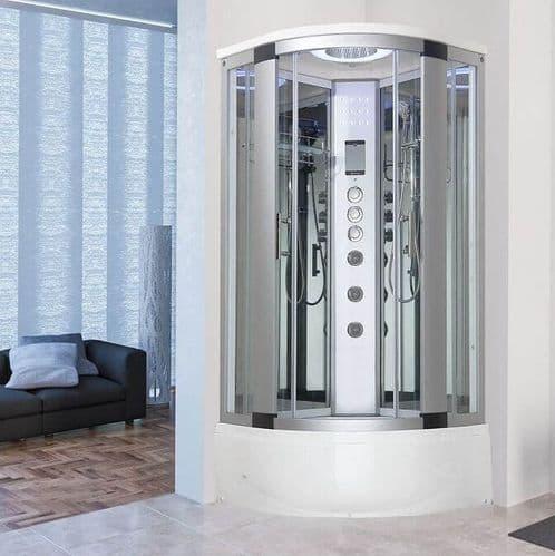 Vidalux Miami Steam Shower 1050mm x 1050mm Mirrored Quadrant Cubicle