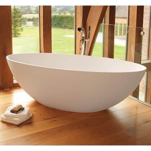 Waters Baths Ellipse 1760mm x 820mm Double Ended Freestanding Stone Bath Elements