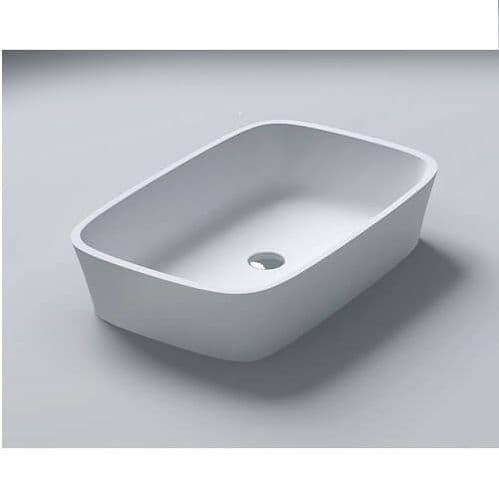 Waters Baths Haze Countertop Stone Square Basin 555mm
